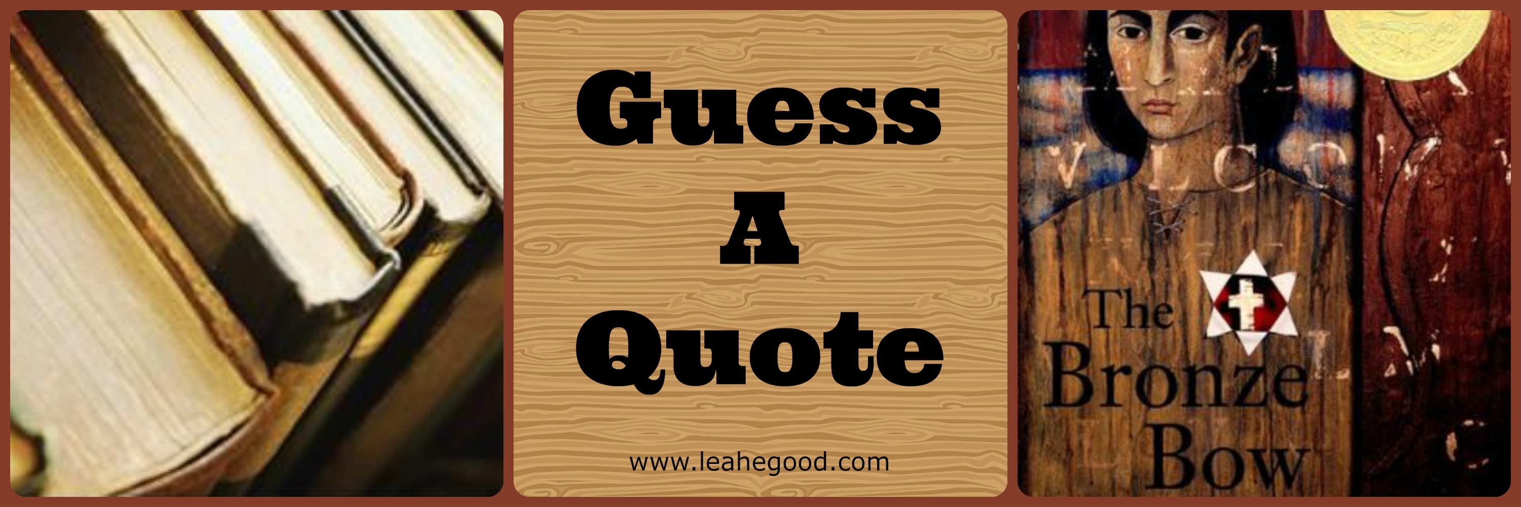 Guess a Quote (1.27.15) & Giveaway   Leah's Bookshelf