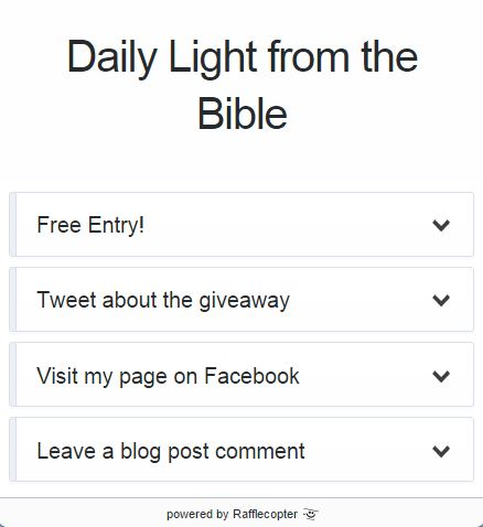 Daily Light from the Bible Giveaway