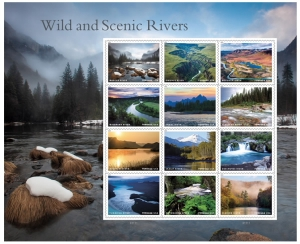 Wild and Scenic Rivers Postage Stamps USPS